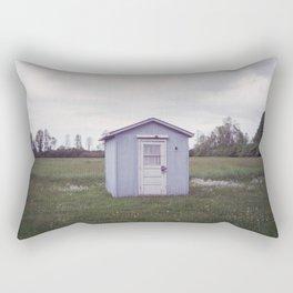 little shed in the backyard Rectangular Pillow