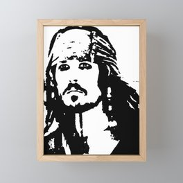 pirates caribbean sea Framed Mini Art Print