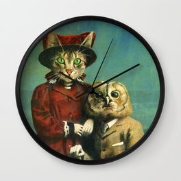 The Owl And The Pussy Cat Wall Clock