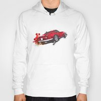 ferrari Hoodies featuring Ferrari 275 by Claeys Jelle Automotive Artwork