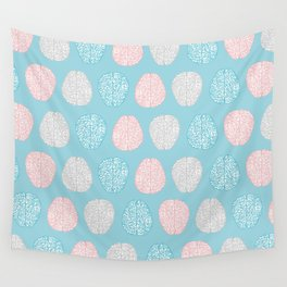Pastel Brains Pattern Wall Tapestry