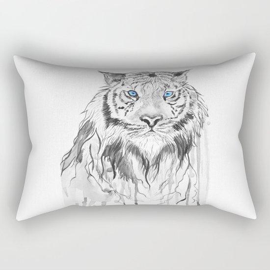 Tiger, black and white Rectangular Pillow