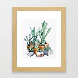 Potted Cacti Framed Art Print