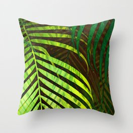 TROPICAL GREENERY LEAVES no8a Throw Pillow