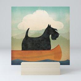 Scottish Terrier Canoe Mini Art Print