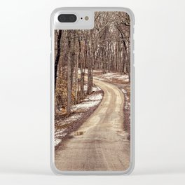 road through the woods Clear iPhone Case