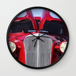 Vintage Chevy Hot Rod! by Murray Bolesta Wall Clock