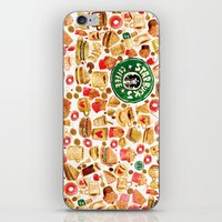 starbucks iPhone & iPod Skins featuring The Starbucks by Nacho Z. Huizar