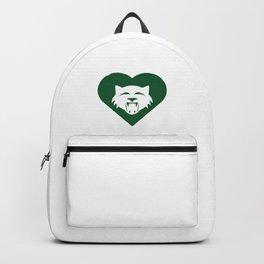 Wildcat Mascot Cares Green Backpack