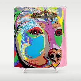 Lady Rottweiler Shower Curtain