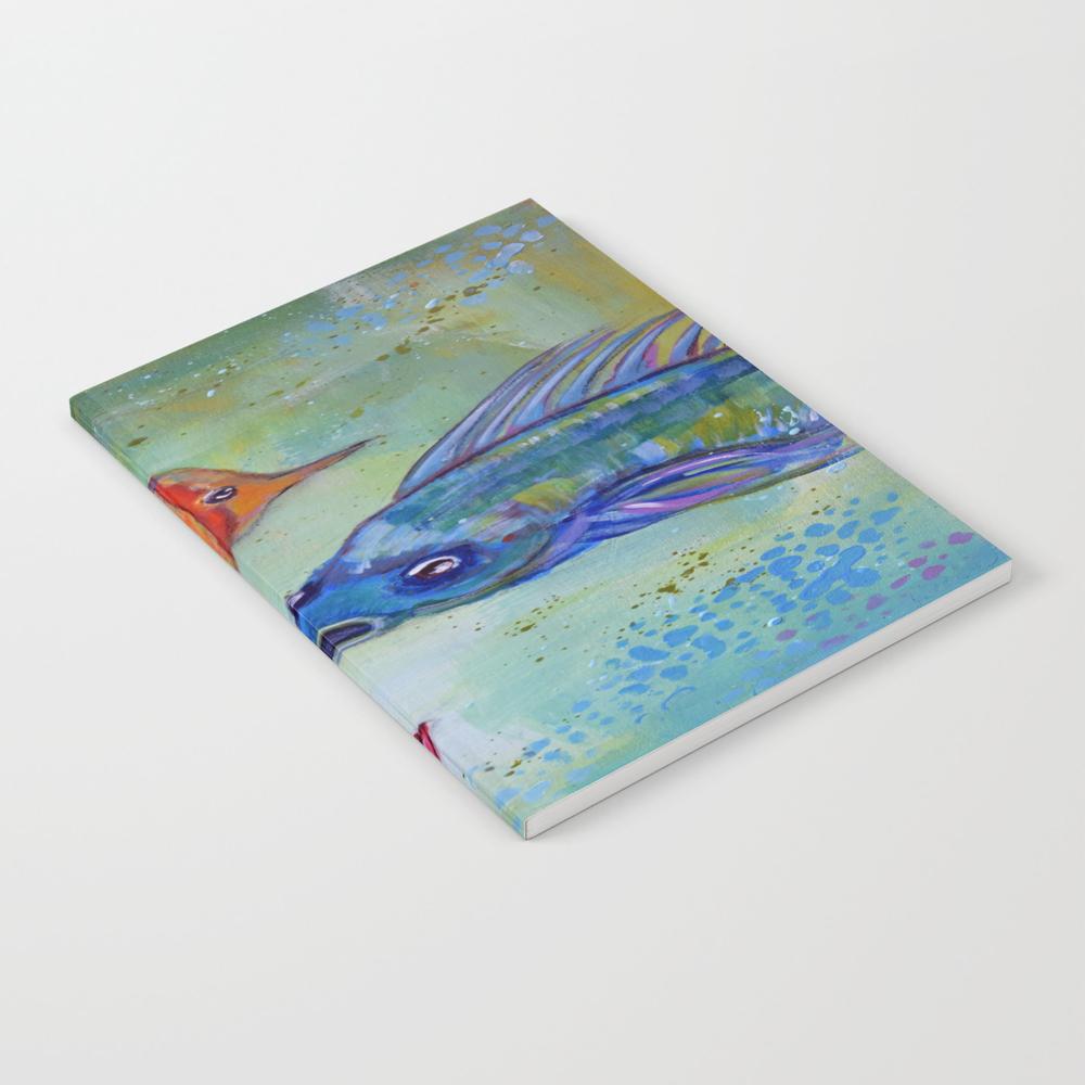 Three Little Fishies Notebook by Effiesuedesigns NBK8279103