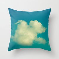 cloud Throw Pillows featuring Cloud by Jean-François Dupuis