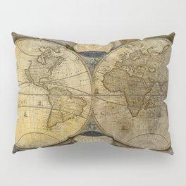 """""""Vintage paper & Maps (burlap texture)"""" Pillow Sham"""