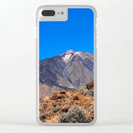 Teide volcano Clear iPhone Case