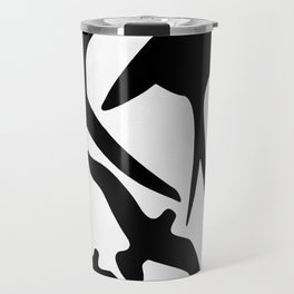 Birder Silhouette Swallow Swift and Seagulls Travel Mug