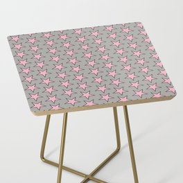 Stars pattern pink on grey Side Table