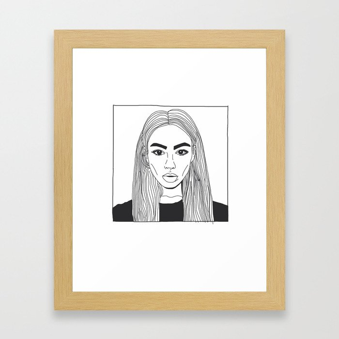 She's Looking Right At You Framed Art Print