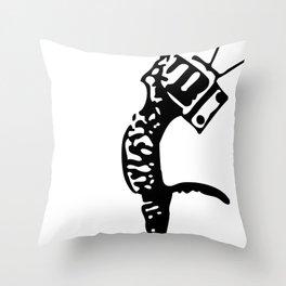 Television kitty Throw Pillow