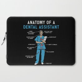 Funny Anatomy of a Dental Assistant Laptop Sleeve