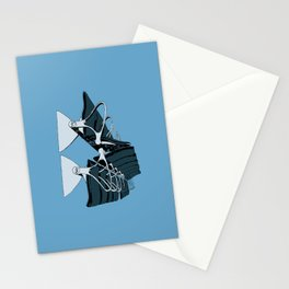 AirportChairs Blue Stationery Cards