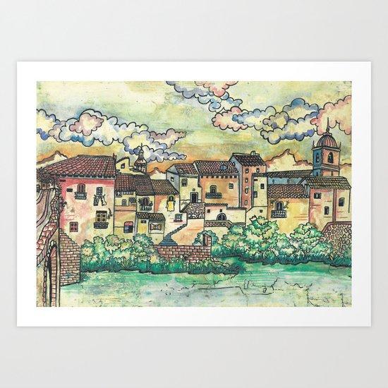 """A Spanish village"" Art Print"