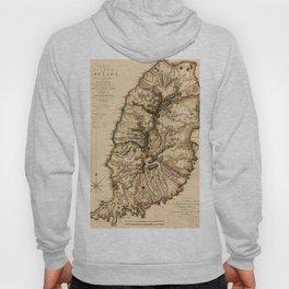 Map Of Grenada 1780 Hoody