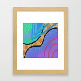 Colorful Abstract Art Digital Painting  Framed Art Print