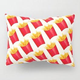 Fries Pattern - White Pillow Sham