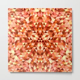Hot triangle mandala Metal Print