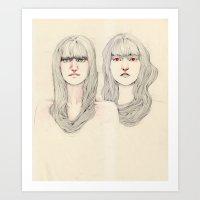 Hair Play 09 Art Print