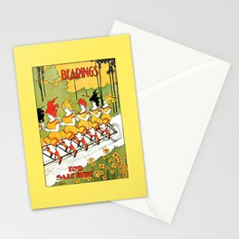 Vintage art Nouveau funny girls on a tandem bicycle Stationery Cards