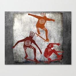 Skateboard Petroglyph Canvas Print