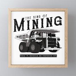 Liebherr the king of mining Framed Mini Art Print