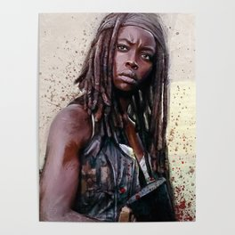 Michonne On The Walls Of Alexandria - The Walking Dead Poster