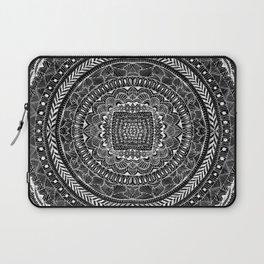 Zentangle Mandala Black and White Laptop Sleeve