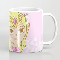 the legend of zelda Mugs featuring  Zelda  by HypersVE
