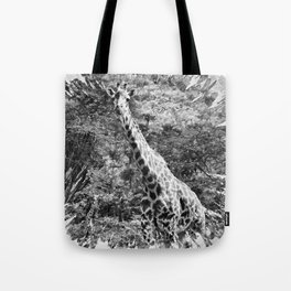 African Giraffe - Through The Woods And Through The Trees Tote Bag