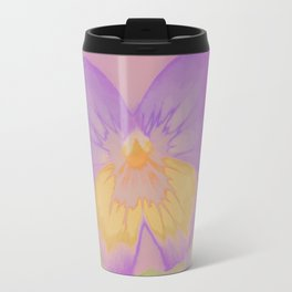 Pansies, The Earth Laughs In Flowers Travel Mug