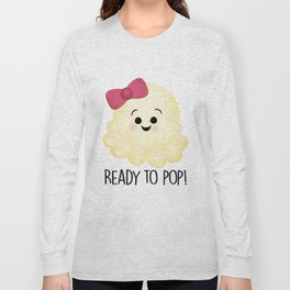 Ready To Pop - Popcorn Pink Bow Long Sleeve T-shirt
