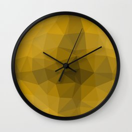 Gold polygonal pattern Wall Clock