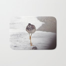 Greater Yellowlegs  Couple Stalk the Cameraman Bath Mat