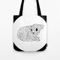 sphynx Tote Bags featuring Sphynx  by Camelo