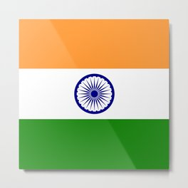 India: Indian Flag Metal Print