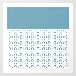 Blueish and Flowerish Art Print