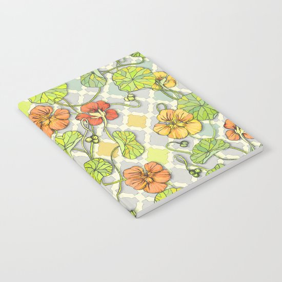 Climbing Nasturtiums in Lemon, Lime and Tangerine Notebook