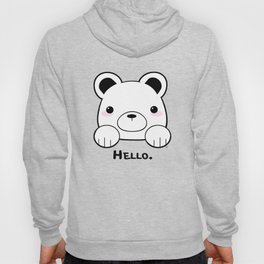 Pink Girly Girl Hello Bear Kawaii! Awww She Just Wants To say Hello! Hoody