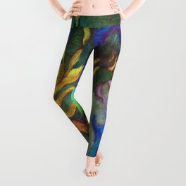 Hestia & The Mermaid PILLOW/SHOWER CURTAIN #B Leggings