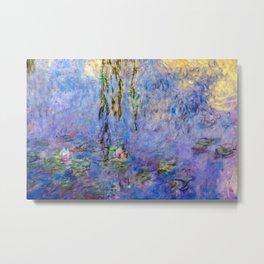 Claude Monet famous artwork Water Lilies - France Metal Print