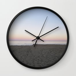 Winter Sunset By The Sea  Wall Clock