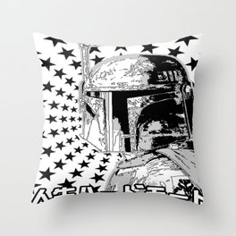 Boba Star Throw Pillow